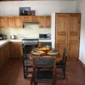 Gorgeous and Rare Rental in Center - Rustic dining in fully equipped kitchen