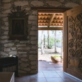 Jewel-Box Casita with Room to Expand - Entry with Carved Door